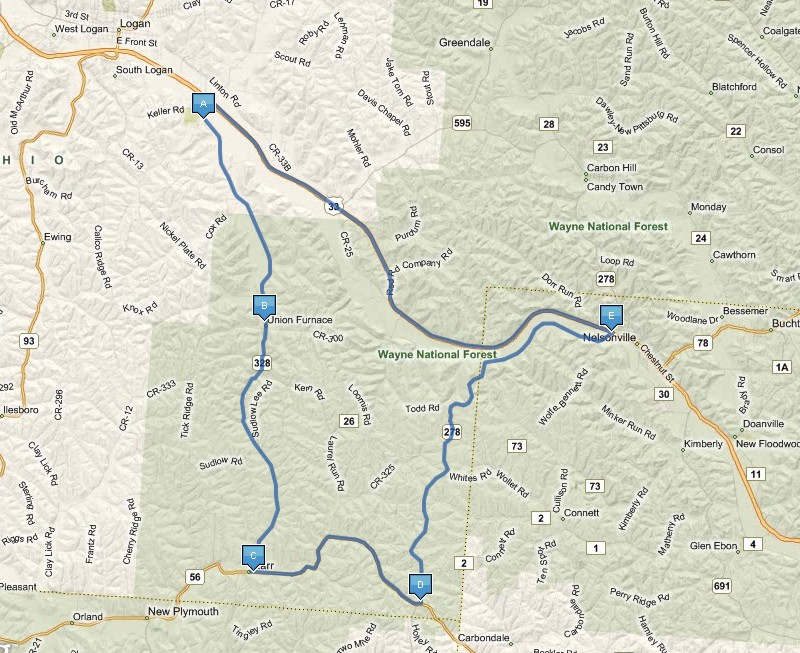 Hocking Hills Fall Foliage Tours Driving Directions