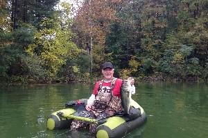 Ohio Belly Boat Fishing - Hocking Hills Hunting/Fishing