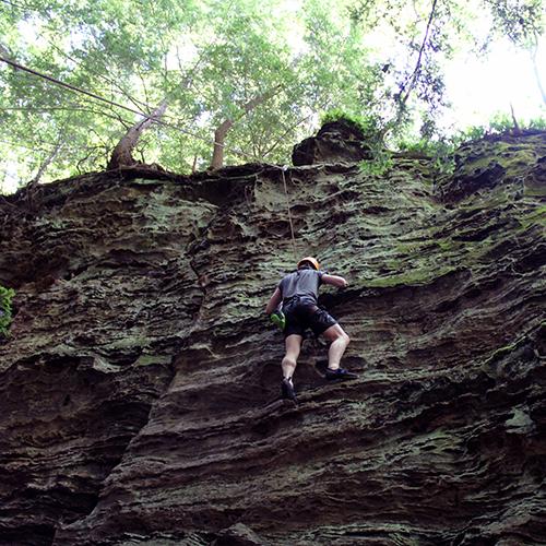 Hocking hills rocking climbing